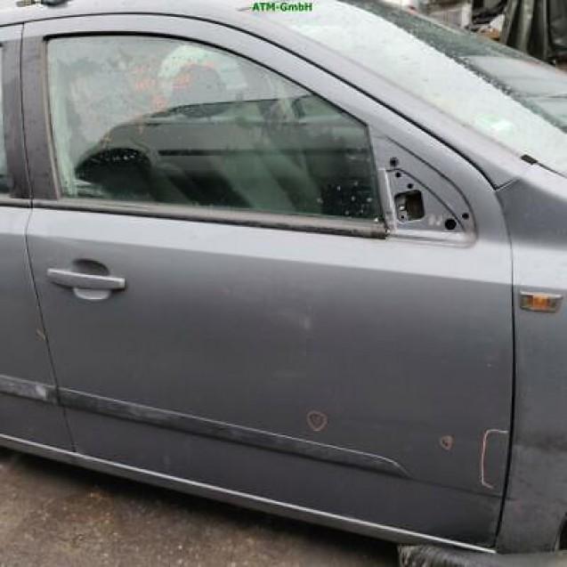 Tür Opel Astra H vorne rechts Farbcode Z155 Moonlandgrau Moonland Grau Metallic