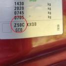 Motorhaube Opel Corsa C Farbcode Z50C Granatapfelrot Rot Perl