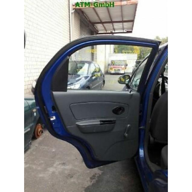Tür Chevrolet Matiz hinten links Farbcode 99U Farbe Mighty Blue Blau MET