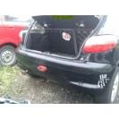 Stoßstange Peugeot 206 3 türig hinten Farbcode EXYB Farbe Noir Onyx Schwarz