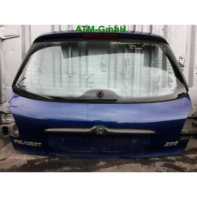 Heckklappe Peugeot 206 5 türig Farbcode EGED Farbe Bleu Chine Blau Perleffekt