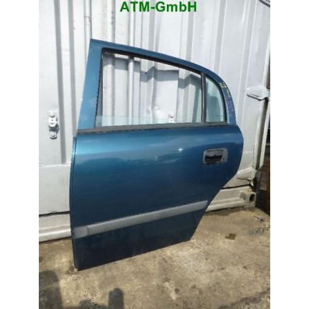 Tür hinten links Opel Astra G 5 türig Z20M Petrol blau Petrolblau Blau