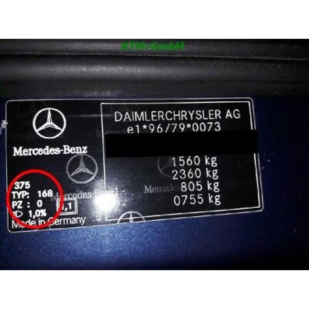Kotflügel Mercedes Benz A-Klasse W168 links Farbcode 375 Farbe Atolblau Blau