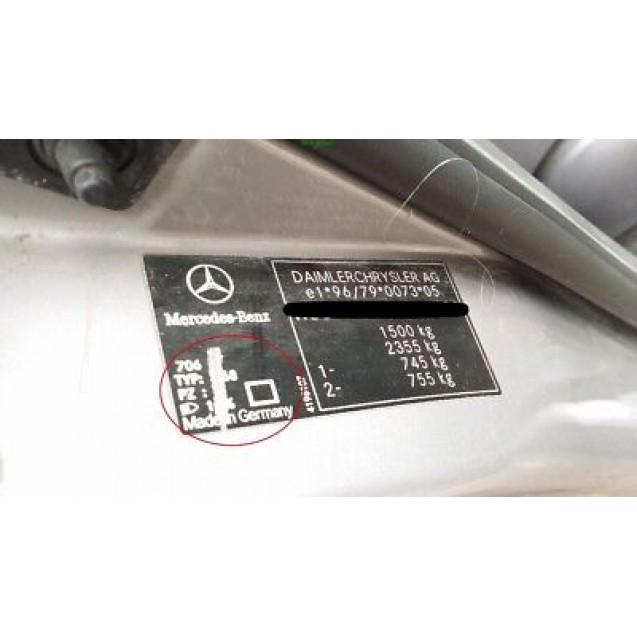 Tür Mercedes Benz A-Klasse W168 hinten links Farbcode 706 Mondsilber Silber