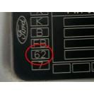 Tür hinten links Ford Fiesta 5 V 5 türig Farbcode 62 Kristallsilber Silber